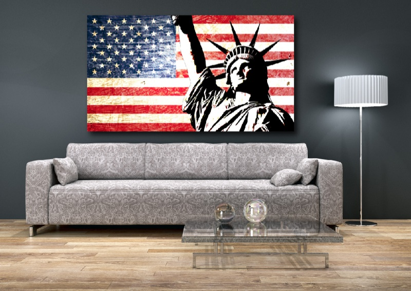 wandtattoo aufkleber usa amerika new york las vegas america fahne flag flagge ebay. Black Bedroom Furniture Sets. Home Design Ideas