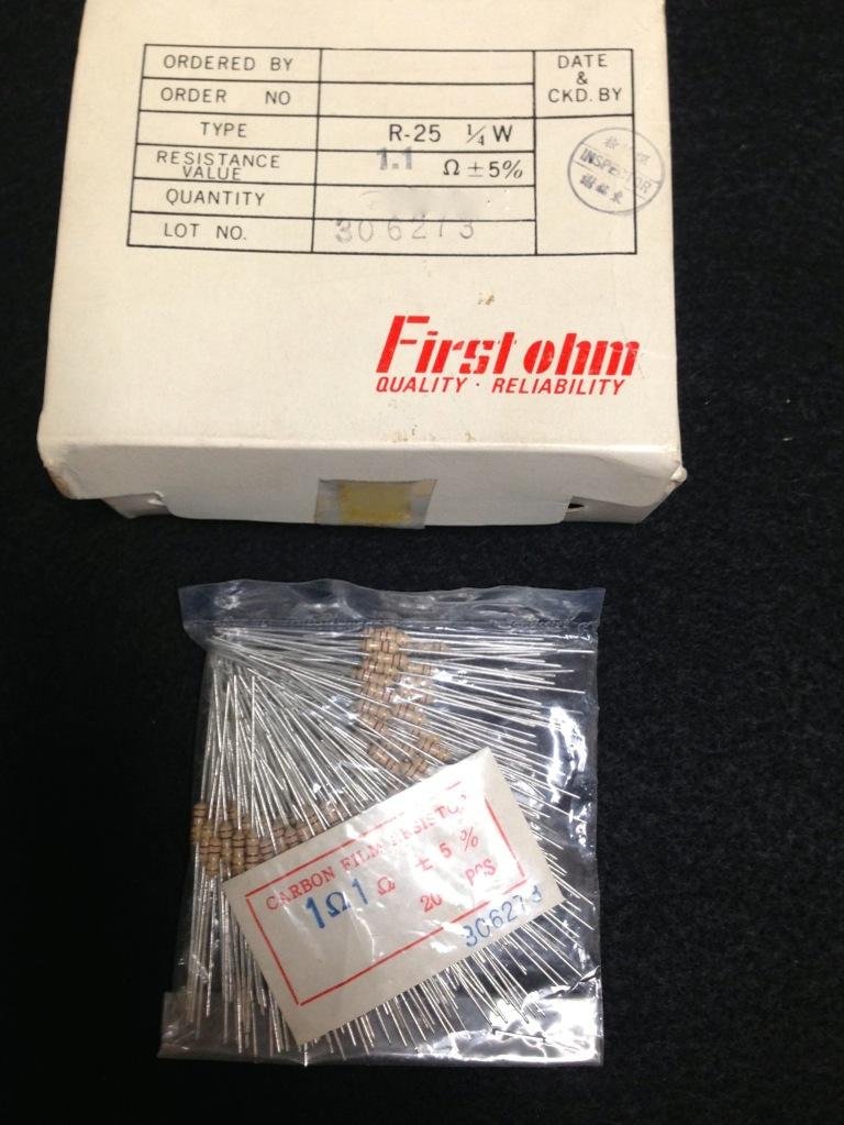 270K 1 ° classe Post 50 x 270K ohm resistore CARBONIO RESISTENZE 1 // 4W