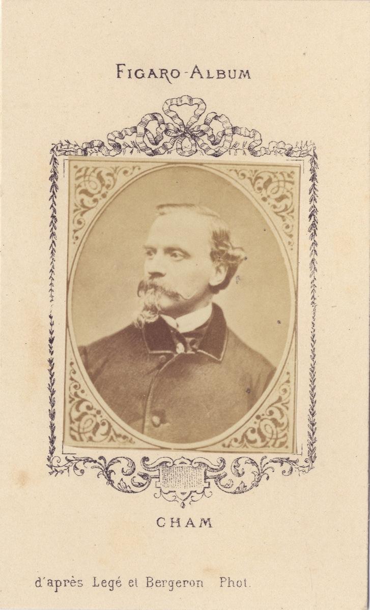 CHAM Dessinateur Figaro Album Carte De Visite Albumine Ca 1875