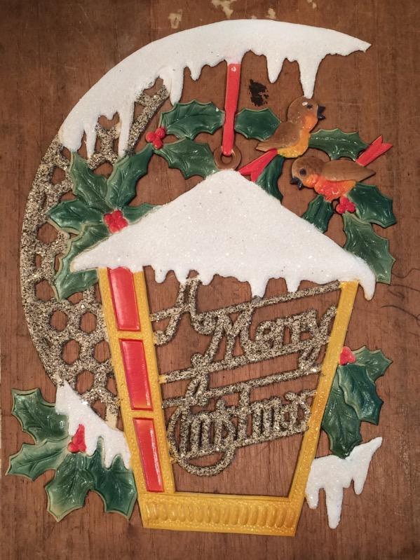 Erzgebirge Merry Christmas GeprÄgte Dresdner Pappe