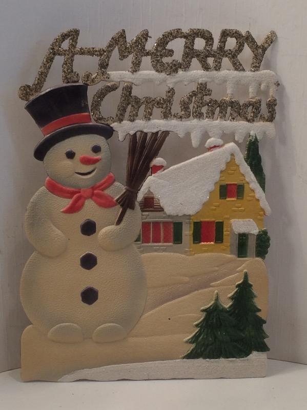 A Merry Christmas GeprÄgte Dresdner Pappe Weihnachtsmann Antike Originale Vor 1945