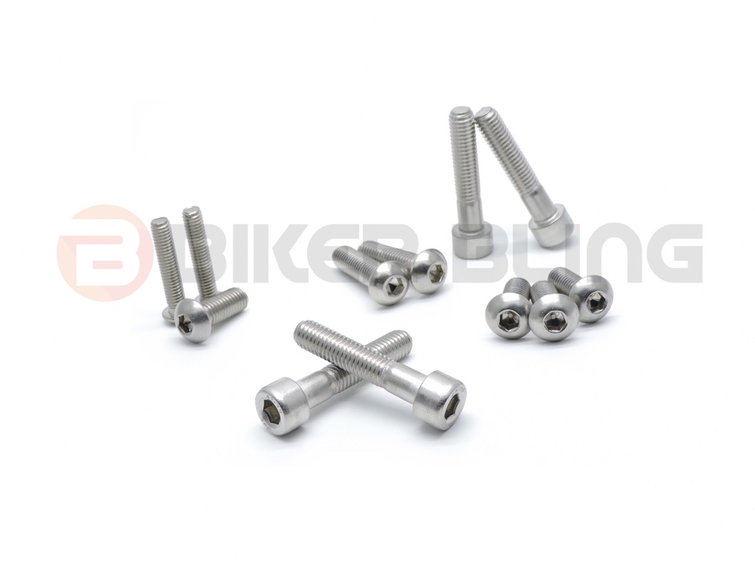 Aprilia RSV1000 Mille R 2002 stainless steel front /& rear foot rest hanger bolts