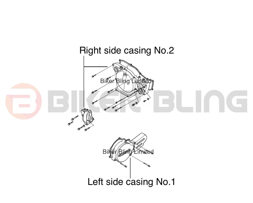 Honda Cr80 Engine Diagram Electrical Wiring Diagrams 1985 Cr80r 1990 2002 Stainless Steel Casing Cover Bolts Ebay Seals