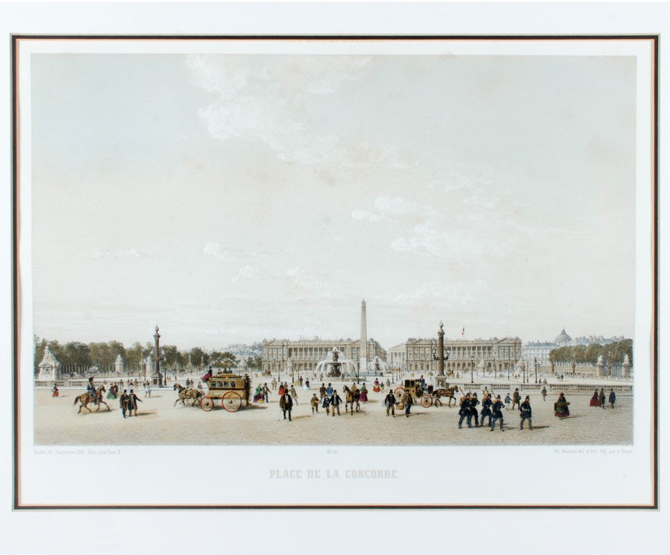 Philippe Benoist Place De La Concorde Paris Antique
