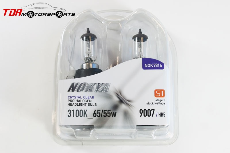NOKYA Halogen Light Bulbs H4 HB2 9003 Crystal Clear 3100K S1 60//55W