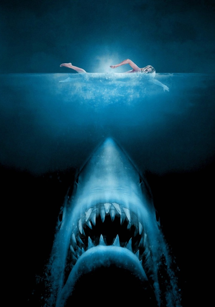jaws movie photo print poster textless film art stephen. Black Bedroom Furniture Sets. Home Design Ideas