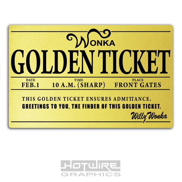 photograph regarding Wonka Golden Ticket Printable identify Facts in excess of Published Plastic Card, Willy Wonka GOLDEN TICKET Customized International E-book Working day.